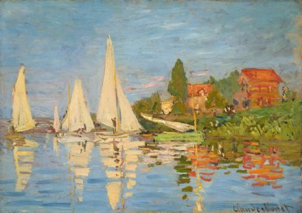 Monet, Claude: Regatta in Argenteuil. Fine Art Print/Poster. Sizes: A4/A3/A2/A1 (00778)